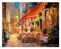 Cafe in Light Framed Print