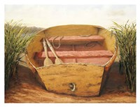 Beached Dinghy Fine Art Print
