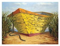 Yellow and Orange Rowboat Fine Art Print