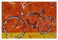 Gold and Orange Bike Fine Art Print