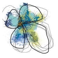 Azure Petals I Fine Art Print