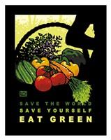 Eat Green Fine Art Print