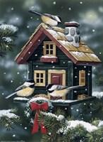 Winter Birdhouse Fine Art Print