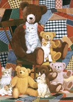 Teddy's And Friends Fine Art Print