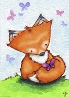 Little Fox and New Friend Fine Art Print
