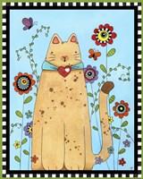 Kitty in the Garden Fine Art Print