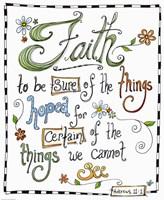 Words of Faith - Certainty of Faith Fine Art Print