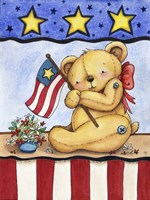 Patriotic Bear Fine Art Print