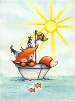 Little Fox at Sea Fine Art Print