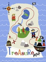 Treasure Map Framed Print