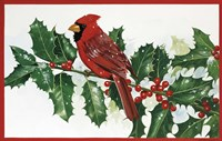 Cardinals & Holly Fine Art Print
