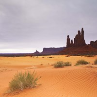 Monument Valley Panorama 1 2 of 3 Fine Art Print