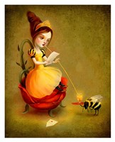 Queen Bee Reads a Love Letter Fine Art Print