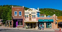 Buildings along Main Street, Park City, Utah Fine Art Print