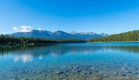 Patricia Lake with mountains in the background, Jasper National Park, Alberta, Canada Fine Art Print