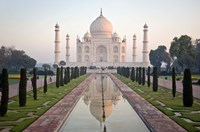 Reflection of a mausoleum in water, Taj Mahal, Agra, Uttar Pradesh, India Fine Art Print
