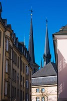 Church in the city, Notre Dame Cathedral, Luxembourg City, Luxembourg Fine Art Print