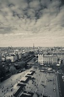 Aerial view of a city viewed from Notre Dame Cathedral, Paris, Ile-de-France, France Fine Art Print