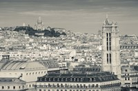 City with St. Jacques Tower and Basilique Sacre-Coeur viewed from Notre Dame Cathedral, Paris, Ile-de-France, France Fine Art Print