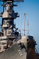Close UP of USS Missouri, Pearl Harbor, Honolulu, Oahu, Hawaii Fine Art Print