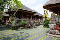 Inner grounds of the 1950's Pura Taman Saraswati temple, Ubud, Bali, Indonesia Fine Art Print