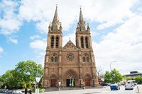 Facade of a cathedral, St. Peter's Cathedral, Adelaide, South Australia, Australia Fine Art Print