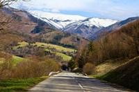 Mountain road in a valley, Tatra Mountains, Slovakia Fine Art Print