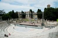 Ancient theatre built 1st century BC, Theatre Antique D'Arles, Arles, Provence-Alpes-Cote d'Azur, France Fine Art Print