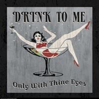 Drink to Me Framed Print
