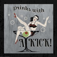 Drinks with a Kick Framed Print