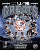 New York Yankees All Time Greats Composite Fine Art Print