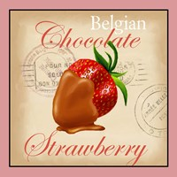 Belgian Chocolate Strawberry Framed Print