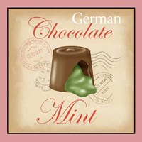 German Chocolate Mint Framed Print