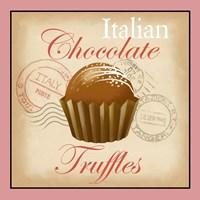 Italian Chocolate Truffles Framed Print