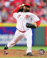 Johnny Cueto Pitching Baseball Fine Art Print
