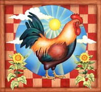 Morning Glory Rooster II Fine Art Print