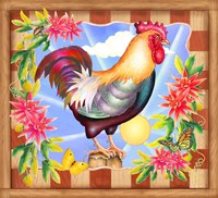 Morning Glory Rooster IV Fine Art Print