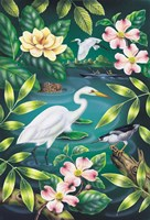 River Egret Fine Art Print