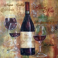Napa Valley Pinot Lettered Fine Art Print