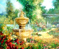 The Garden Fountain Fine Art Print