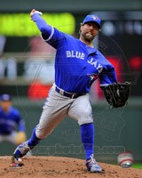 R.A. Dickey 2014 Action Fine Art Print