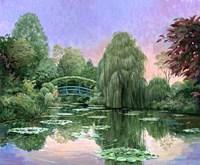 Monet Garden V Fine Art Print