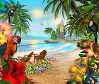 Island Of Palms Fine Art Print