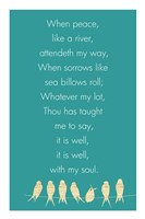 It Is Well With My Soul Panel Framed Print