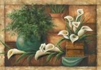 Vessels And Callas Fine Art Print