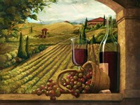 Vineyard Window Framed Print