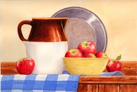 Apples In Yellow Bowl Fine Art Print