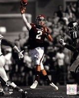 Johnny Manziel Texas A&M Aggies 2012 Spotlight Action Fine Art Print