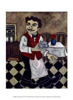 French Waiter IV Fine Art Print