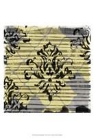Deconstructed Damask I Framed Print